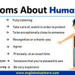 Idioms About Human Body