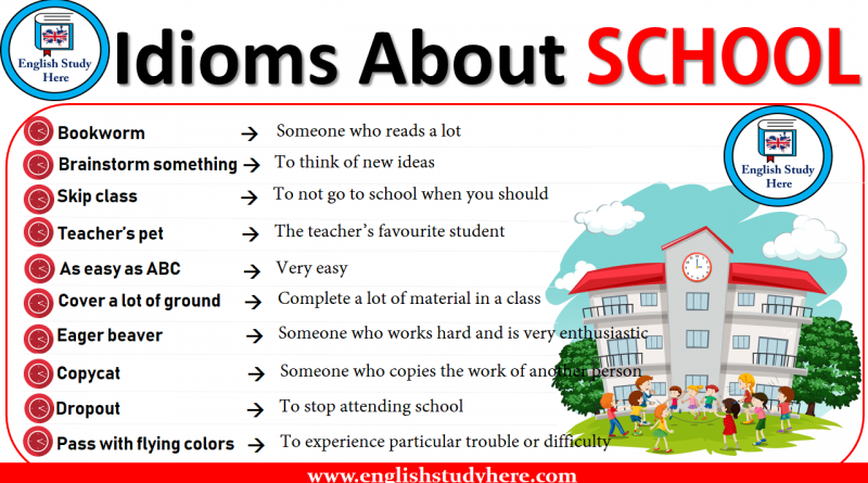 Idioms About SCHOOL in English