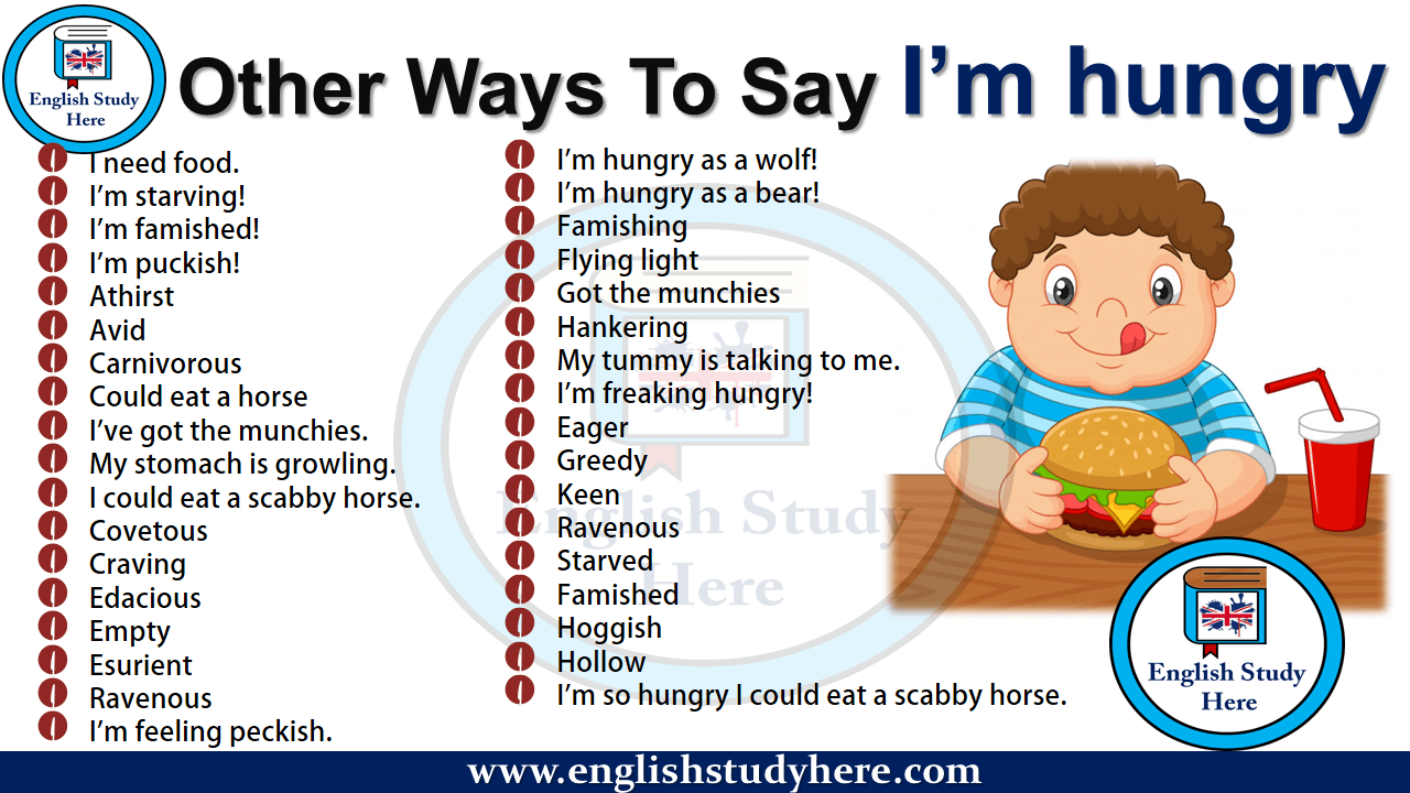 Other Ways To Say I'm hungry