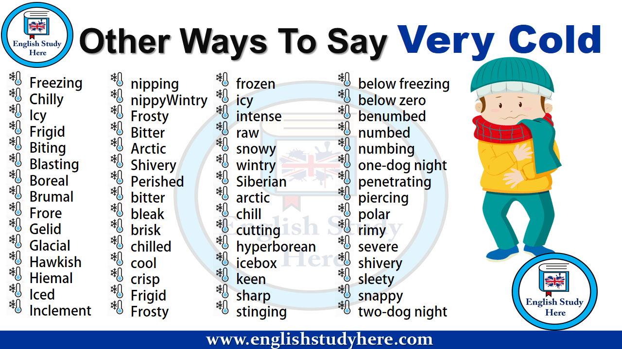 Other Ways To Say Very Cold