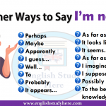 Other Ways to Say I'm not sure