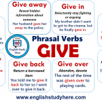 Phrasal Verbs GIVE in English