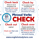 Phrasal Verbs with CHECK