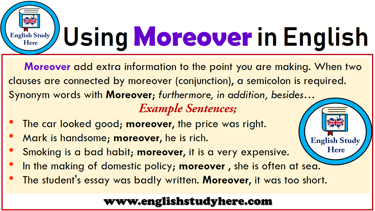 Using Moreover in English