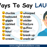 Ways To Say Laughed