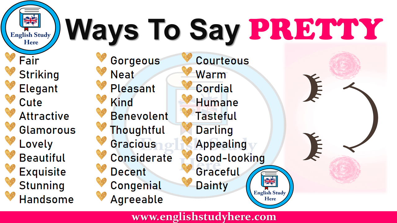 ways to say pretty in english