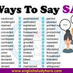 Ways To Say SAID in English