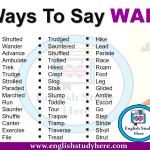 Ways To Say WALKED in English