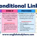 Conditional Linkers in English