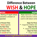 Difference Between WISH and HOPE