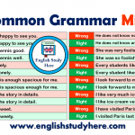 English Common Grammar Mistakes