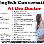 English Conversation - At the Doctor