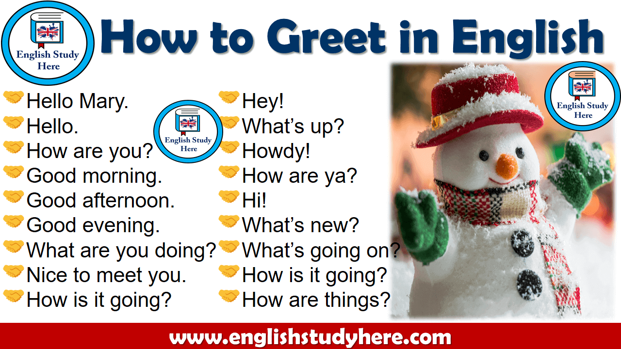 How to Greet in English