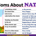 Idioms About NATURE