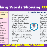 Linking Words Showing CONTRAST