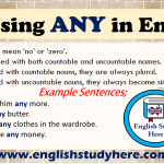 Using ANY in English