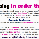 Using In order that in English