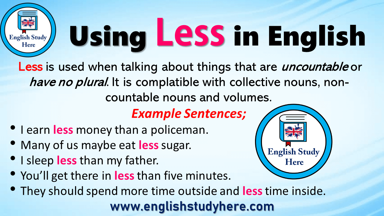 Using Less in English