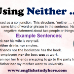 Using Neither nor in English