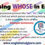 Using WHOSE in English