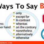 Other Ways To Say BUT
