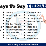 Ways To Say THEREFORE