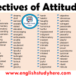 Adjectives of Attitude List in English
