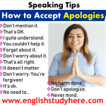 Speaking Tips - How to Accept Apologies