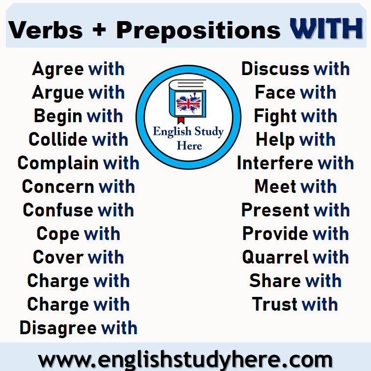 Verbs + Prepositions WITH List in English
