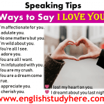 Ways to Say I Love You - Speaking Tips