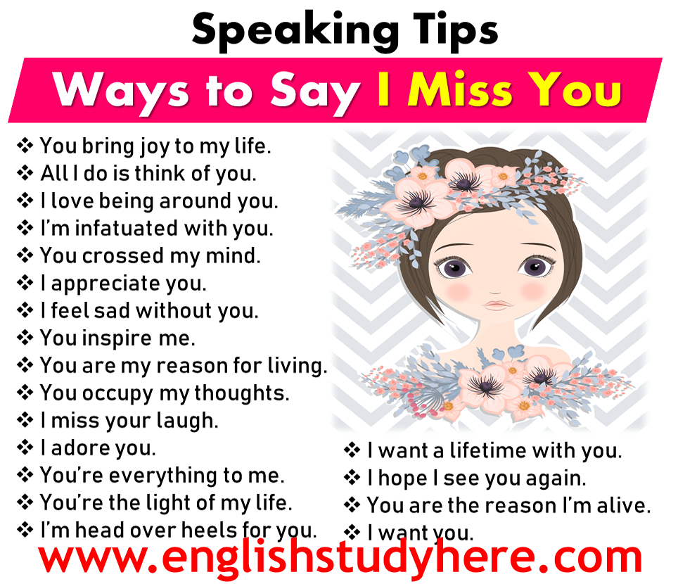 Ways to Say I Miss You - Speaking Tips