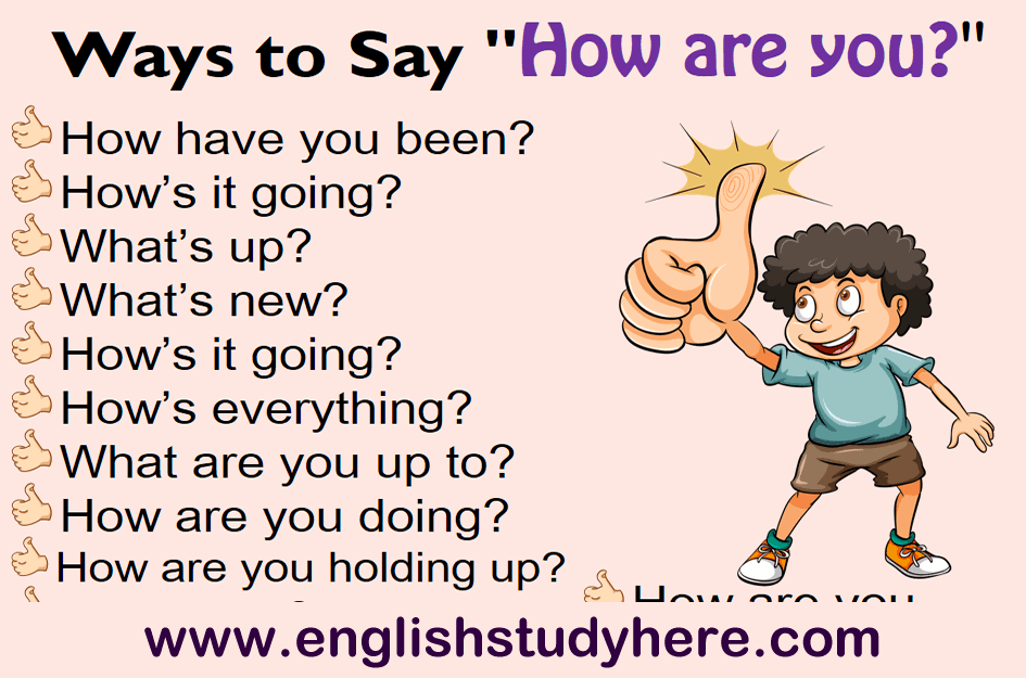 18 Ways to Say How are you in English