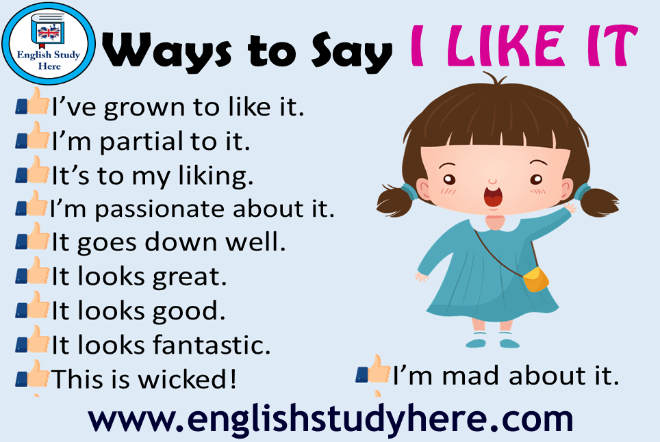 24 Ways to Say I LIKE IT in English