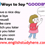 Different Ways Saying GOODBYE in English