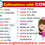 English Collocations with COME