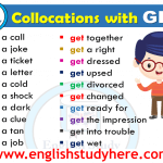 English Collocations with GET