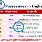 Forming the Possessives - Possessives in English