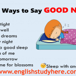 18 Ways to Say GOOD NIGHT in English