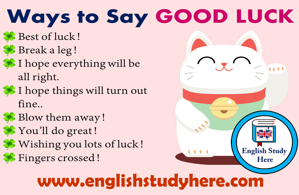 19 Ways to Say GOOD LUCK in English