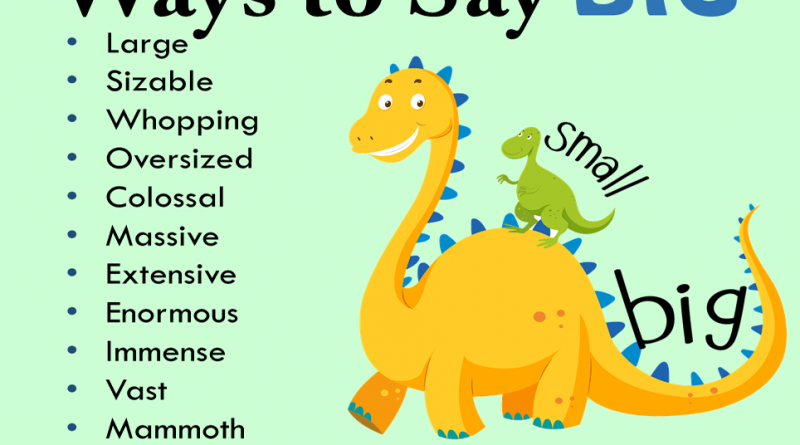 20 Ways to Say BIG in English