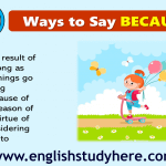 27 Ways to Say Because in English