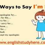 29 Ways to Say I'm Sorry in English