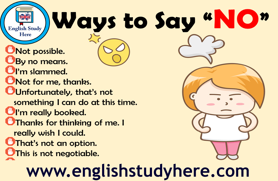 30 Ways to Say No in English