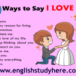 30 different ways to say i love you in english