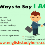 38 Ways to Say I AGREE in English