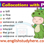 Collocations List in English PAY