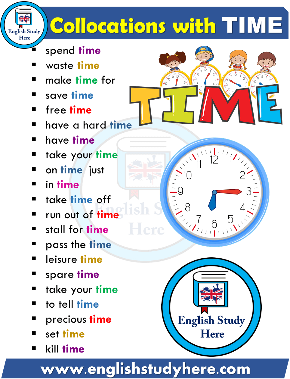 Collocations List with TIME in English