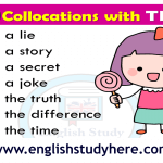 Collocations with TELL List in english