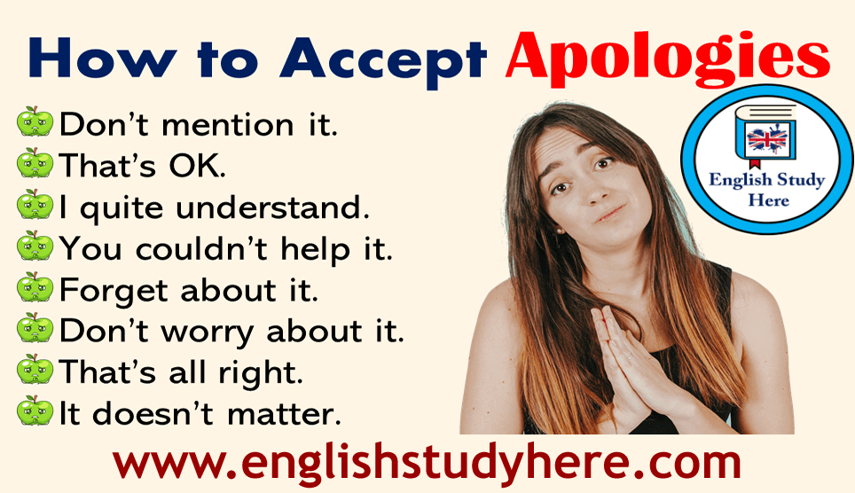 How to Accept Apologies in Speaking English