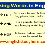 Linking Words Fanboys English